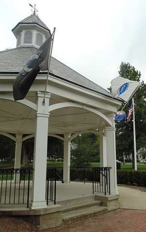 A gazebo in Hopkinton Common