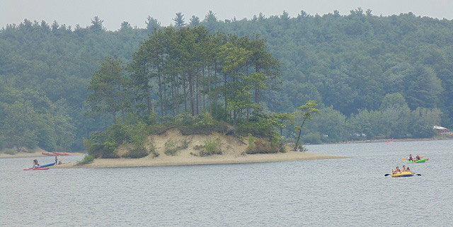 Small island in Hopkinton State Park