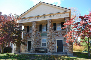 "The Framingham Historical Society's ""Old Academy"" building"