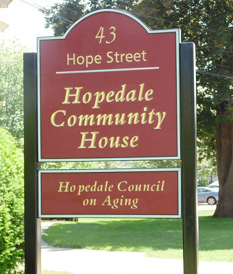 Hopedale Sign
