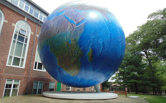 Giant Globe on the Babson College Campus.
